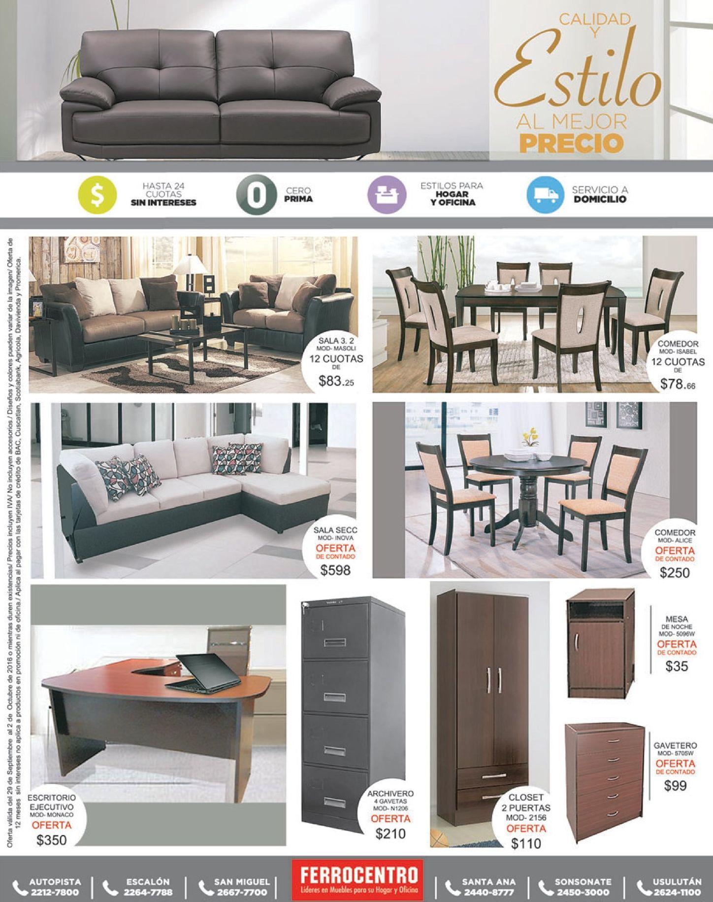 Calidad y estilo de muebles al mejor precios ferrocentro for Muebles precios