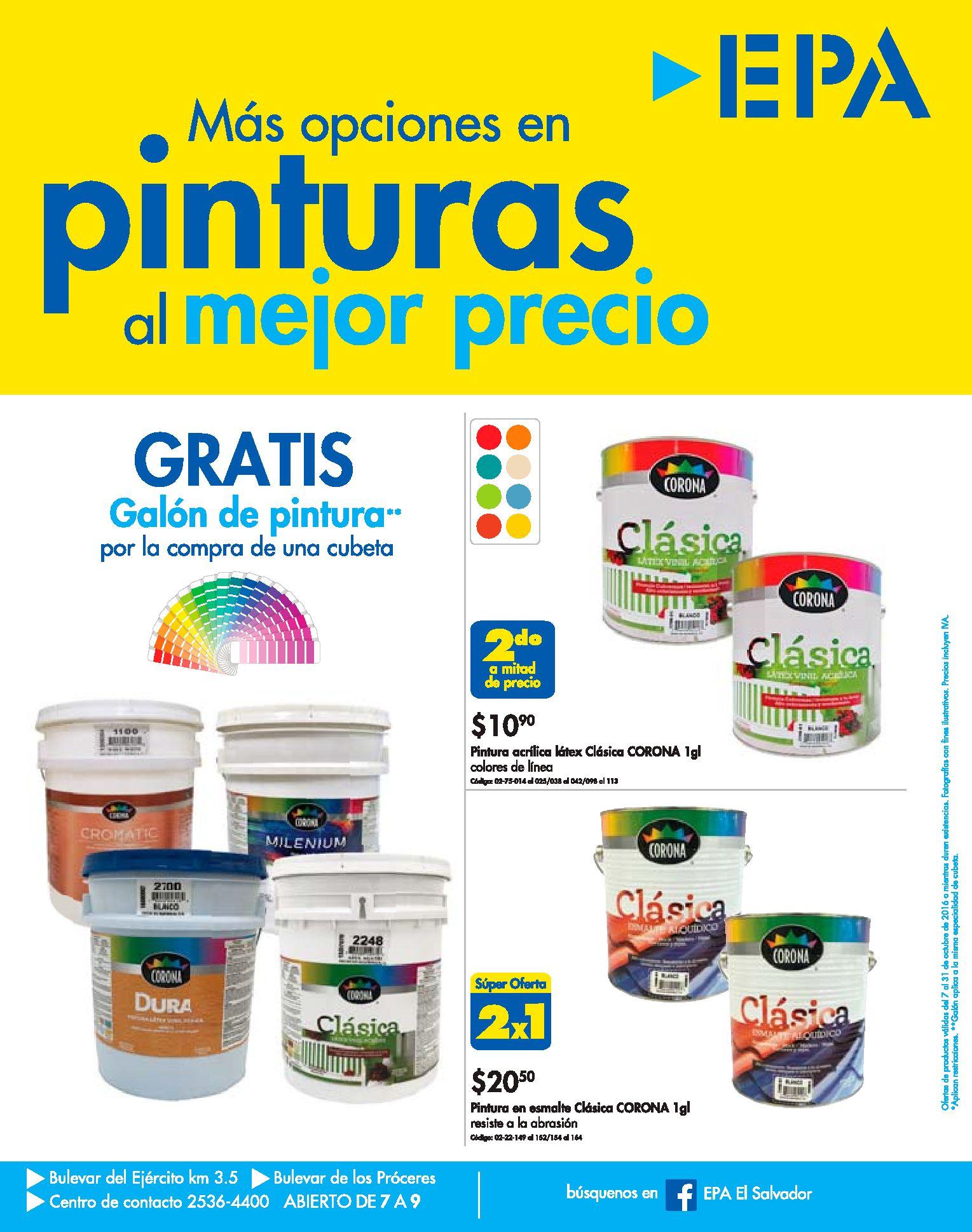 Gratis galones de pinturas con el mejor precios epa sv - Pintura bruguer precio ...