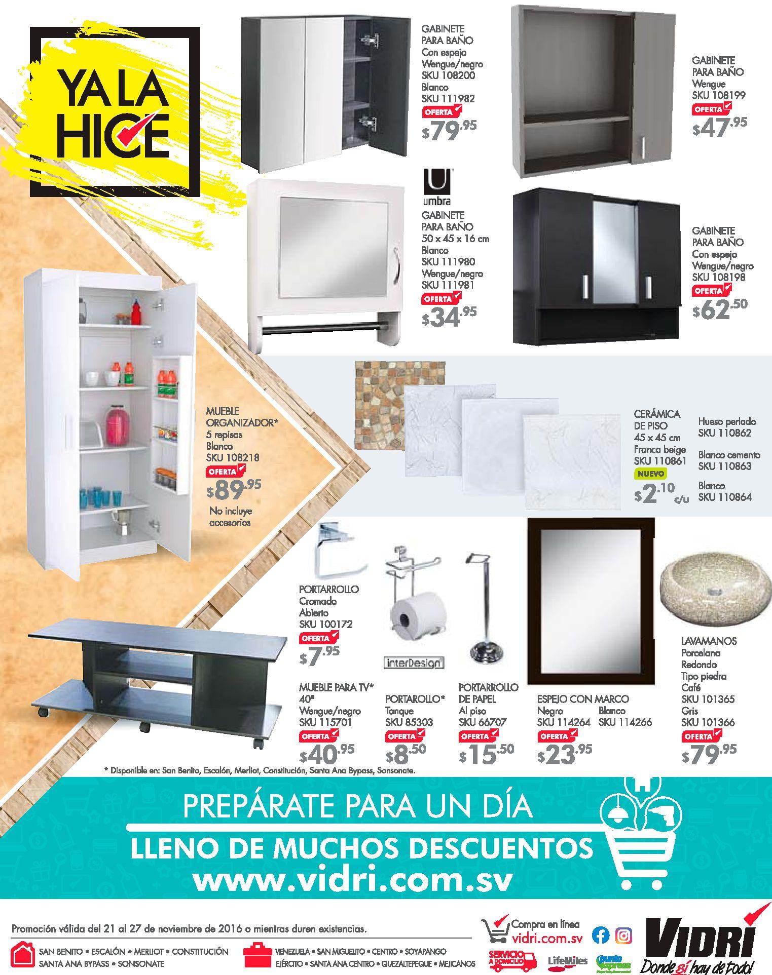 Accesorios De Baño Oferta: accesorios-para-banos-en-vidri-almacen-y-ferreteria-21nov16 – Ofertas