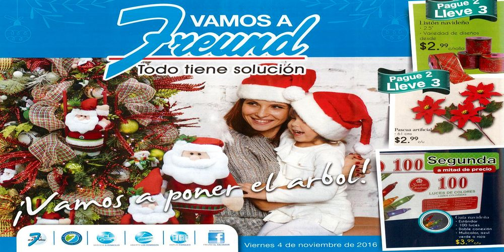 Freund catalogo de productos de navidad noviembre 2016 for Productos de navidad