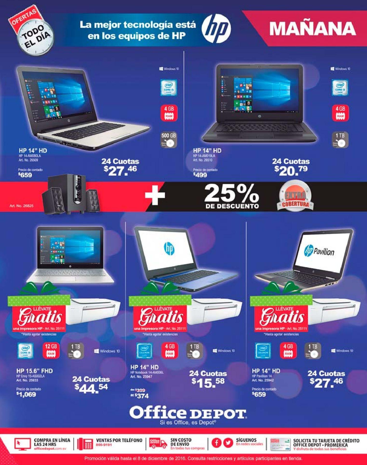 computadoras portatiles en ofertas de navidad office depot