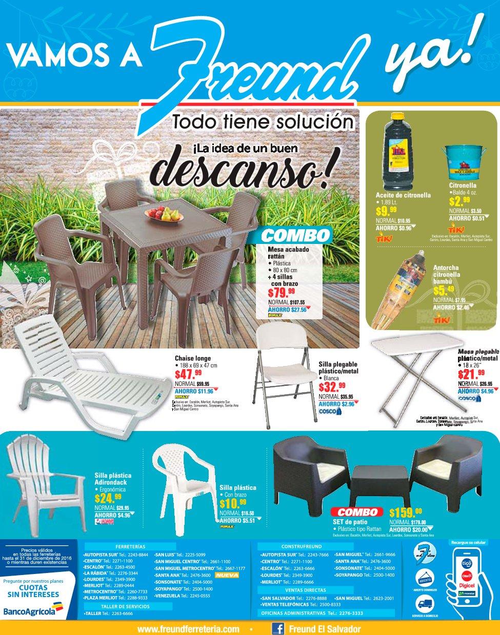 Muebles para tu terraza o jardin con freund el salvador for Ofertas muebles de terraza