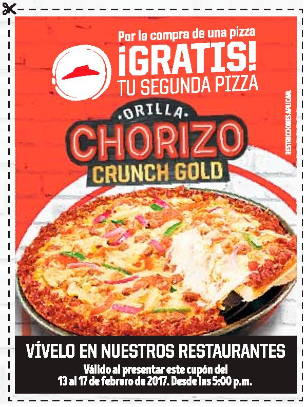 Canjea tu cupon por una pizza gratis en pizza hut el for Oficinas de pizza hut