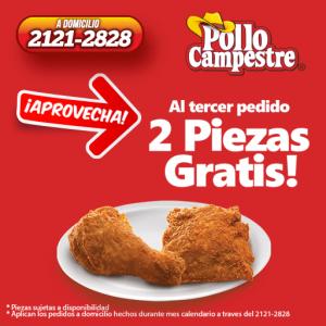 Promociones PolloCampestre piezas gratis