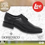 LEE SHOES calzado negro formal para el colegio y oficina