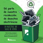 Recolecion de desechos electronicos en tiendas super selectos