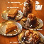 MENU de postres en restaurante buffalo wings el salvador