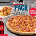 PIZZA dominos mas parmesan bites and coca cola