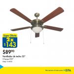 Promocion en ventiladores de techo