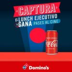 promocion DOMINOS y coca cola JULIO 2017