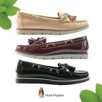 FLAT leather shoes hush puppies
