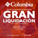Gran liquidacion de prendas de vestir COLUMBIA