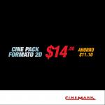 AHORRO en la compra de tu cinepack cinemark sv