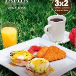Desayunos promocion 3x2 en restaurante LA PAMPA zona rosa