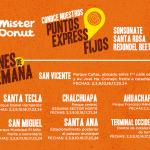 Puntos express Mister Donut el salvador promocion de donas al 2x1