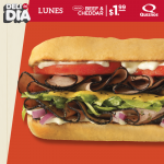 Lunes Quiznos sandwich BEEF and CHEDDAR
