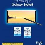 Ya esta aqui SAMSUNG Galaxy Note 8 tigo el salvador