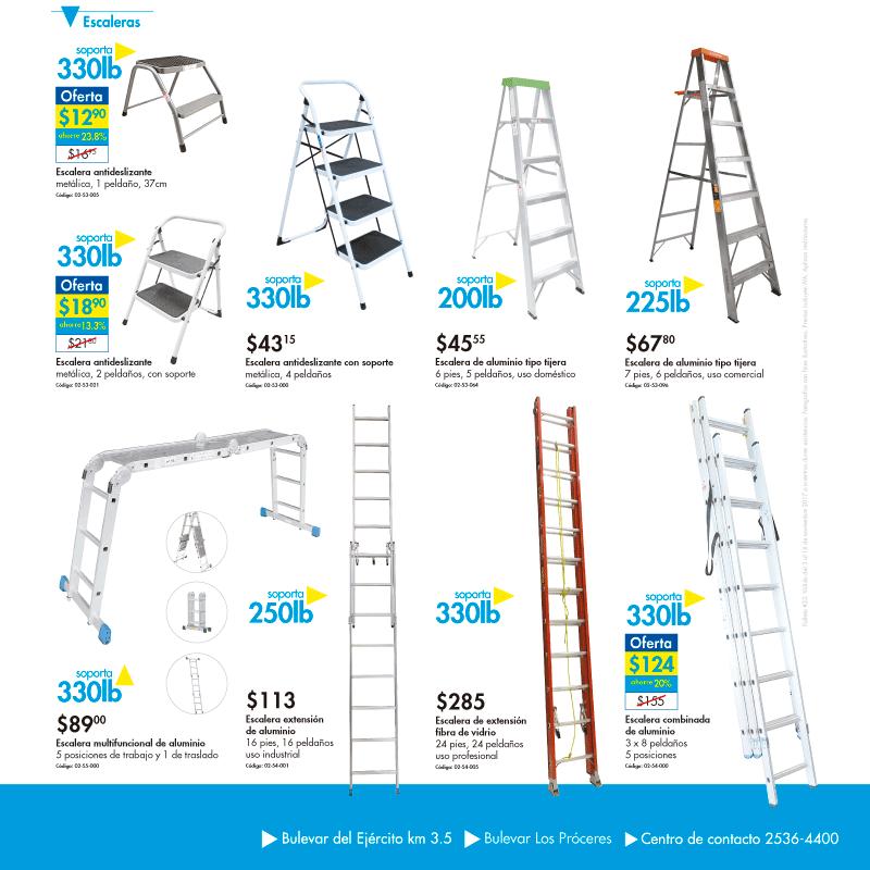 Ferreteria epa variedad de escaleras metalicas y aluminio for Ofertas escaleras de aluminio