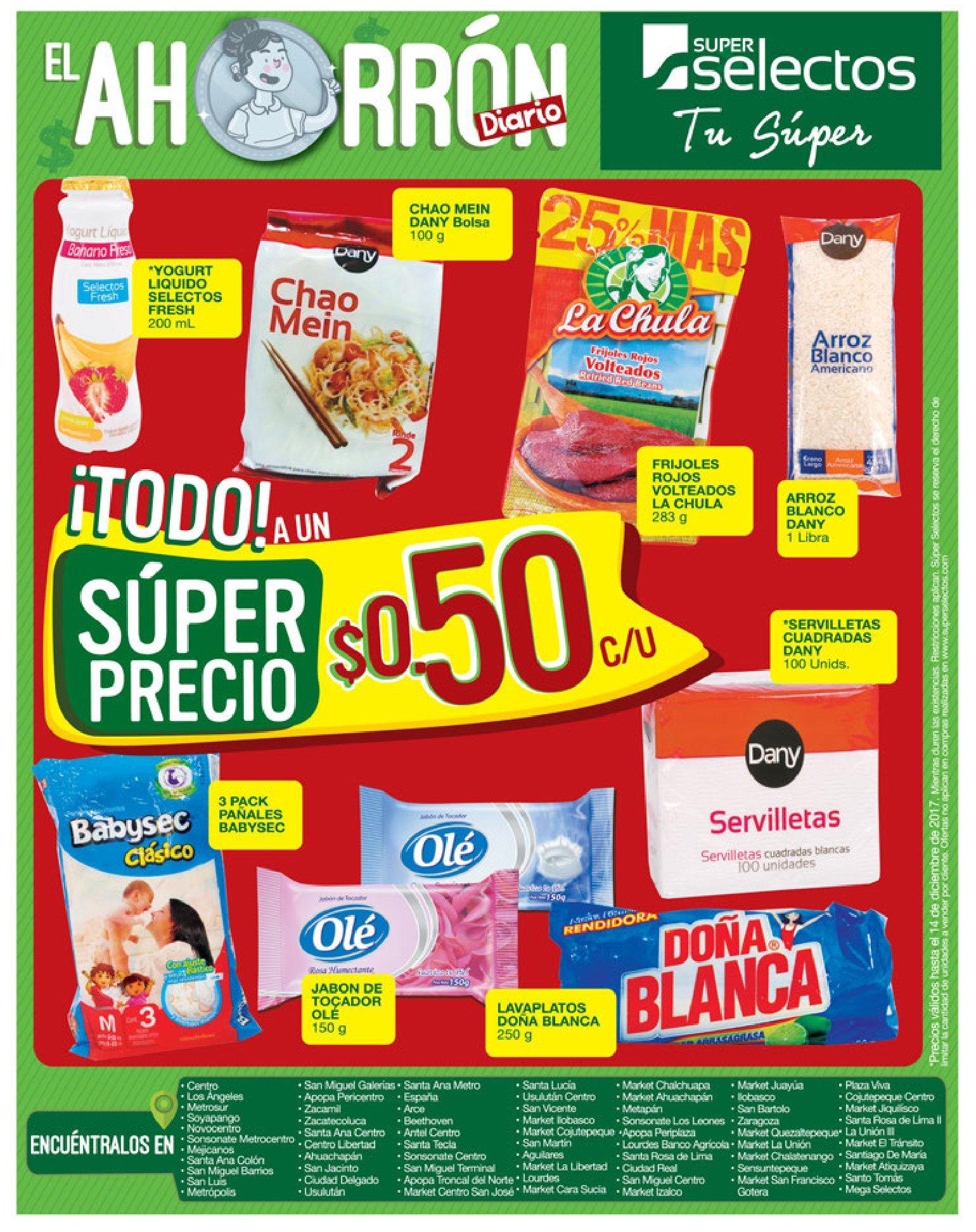 Estas son las ofertas de super ahorro selectos - 08dic17