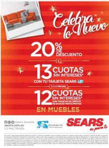 Estrena MUEBLES con los descuentos for holidays 2017 de SEARS