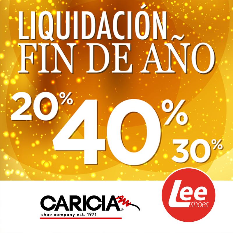 Liquidacion de fin de ano 2017 en LEE shoes de CARICIA