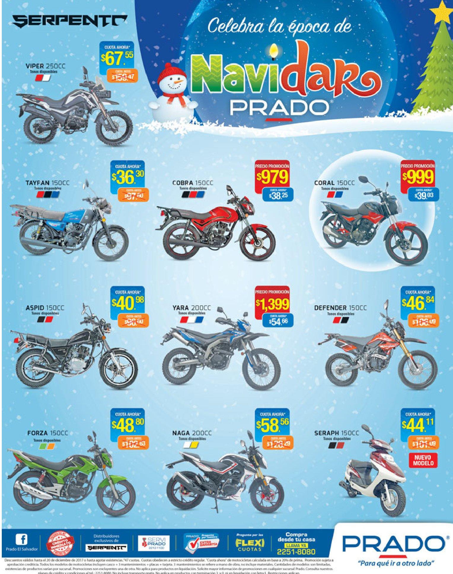 Ofertas de navidad en almacenes prado MOTOS SERPENTO