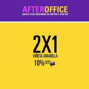 Promociones 2x1 en viñeta amarilla tiendas prisma moda