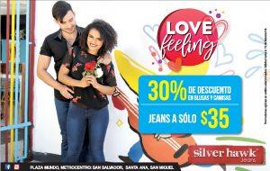 LOVE feeling promocion de san valentin en JEANs