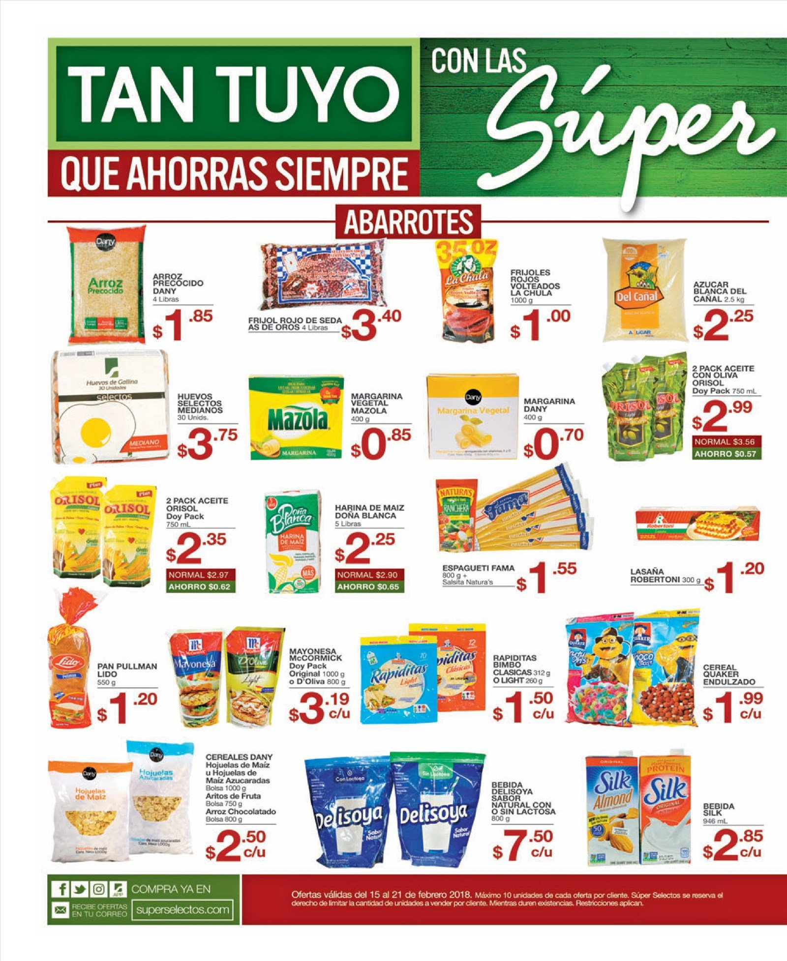 SUPER ofertas irresistibles en superselectos - 15feb18