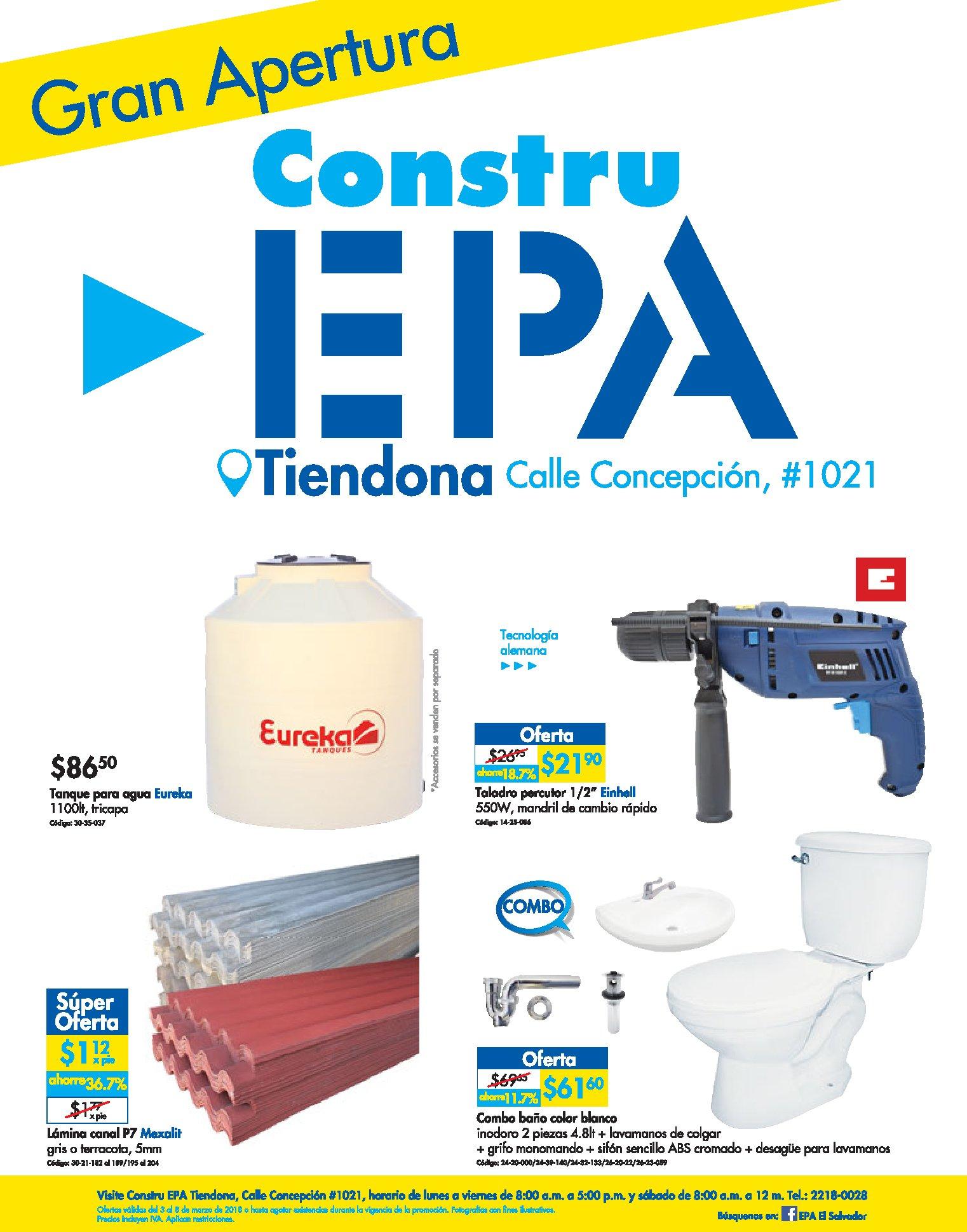 Ferreteria EPA la tiendona ofertas y materiales de construccion
