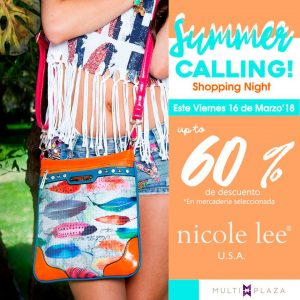 Multiplaza Shopping Night 16 Marzo - Nicole Lee SV