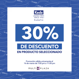 Multiplaza Shopping Night 16 Marzo - tiendas KEDS sv