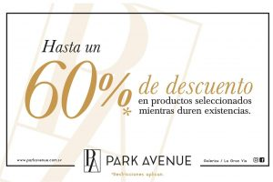 La gran via tienda PARK AVENUE 60 off abril 2018
