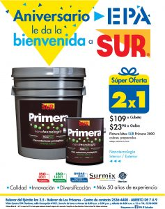 PINTURA SUR disponible en promocione n ferreteria epa mayo 2018