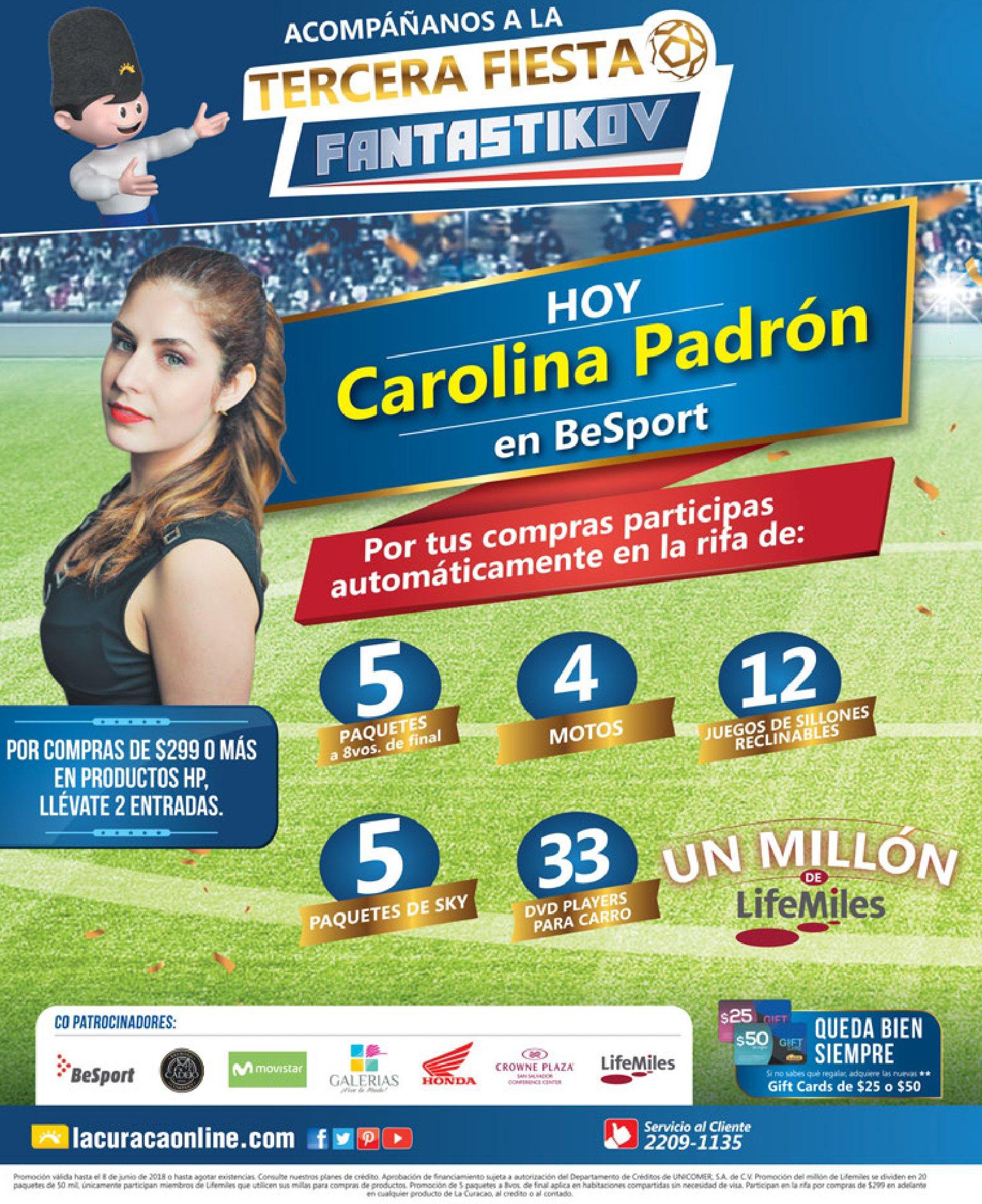 AHORA la tercera fiesta FANTASTIKOV de la curacao con Carolina Padron