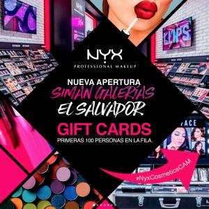 Apertura de tienda NYX professional MAKEUP CAM en galerias escalon