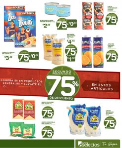 Prodcutos con 75 off en super selectos ahora 29jun18