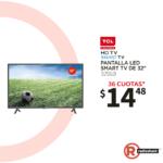Radioshack ofertas en TV smart TLC televisores